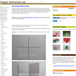 Easy Origami Modular Crown Folding Instructions