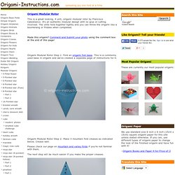 Origami Modular Rotor Folding Instructions
