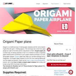 Learn how to make a Origami paper airplane