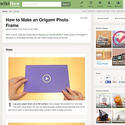 How to Make an Origami Photo Frame: 12 steps (with pictures)