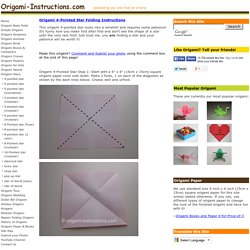 Origami 4-Pointed Star Folding Instructions - How to fold a 4-Pointed Star Origami