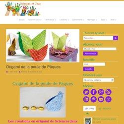 Origami de la poule de Pâques