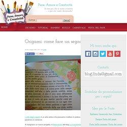 Origami: come fare un segnalibro