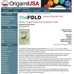 """Review: """"Origami Sequence"""" by Quentin Trollip"""
