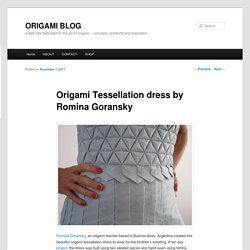 Origami Tessellation dress by Romina Goransky