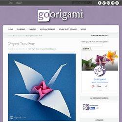 Origami Tsuru Rose by Satoshi Kamiya
