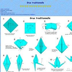 Page Origami de Vincent: Grue traditionnelle