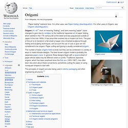 Origami - Wikipedia, the free encyclopedia - Minefield