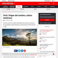 Perú: Origen del nombre y datos históricos