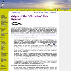 "Origin of the ""Christian"" Fish Symbol"