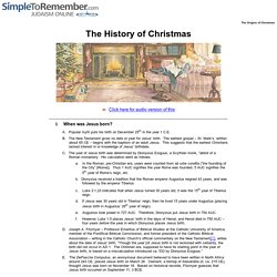 The history of Christmas and how it began
