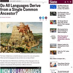 Origin of languages: Tower of Babel, proto-languages, and the brothers Grimm