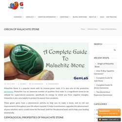 Origin of Malachite Stone -