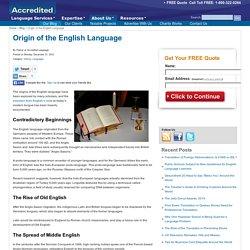 Origin of the English Language