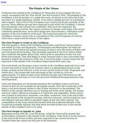 Origin of the Taino
