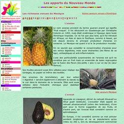 apports saveurs : fruits, legumes et animaux originaires du Mexique et d'Amerique - Mon Mexique - www.MonMexique.com