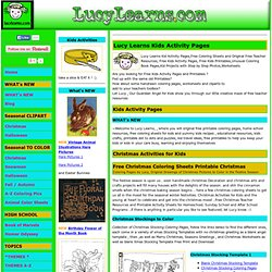 Original Kids Activity Pages, Free Coloring Sheets and Free Kids Printables