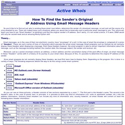 How to find the sender's original IP Address using Email message Headers