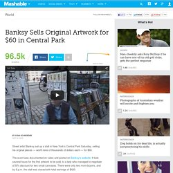 Banksy Sells Original Artworks for $60 a Piece in Central Park