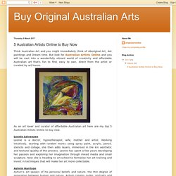 Buy Original Australian Arts: 5 Australian Artists Online to Buy Now