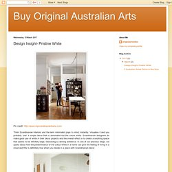 Buy Original Australian Arts: Design Insight- Pristine White