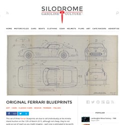 Original Ferrari Blueprints - Silodrome