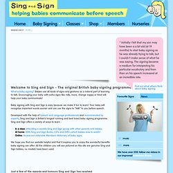 Sing and Sign - The original British baby signing programme