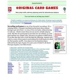 Original Card Games