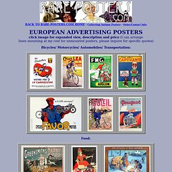 Original Antique European Advertising Posters For Sale