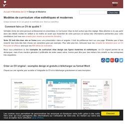 CV Design et Original : 20 exemples gratuits
