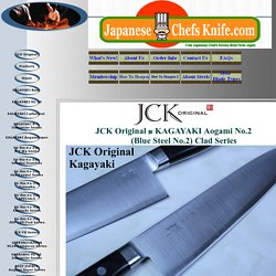 JCK Original KAGAYAKI Aogami No.2 (Blue Steel) Clad Knife