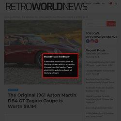The Original 1961 Aston Martin DB4 GT Zagato Coupe is Worth $9.1M
