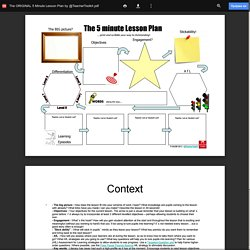 The ORIGINAL 5 Minute Lesson Plan by @TeacherToolkit.pdf