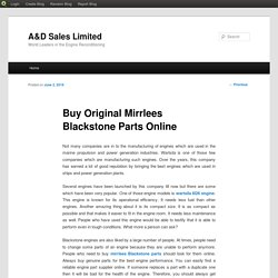 Mirrlees Blackstone Spares Parts