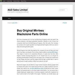 Mirrlees Blackstone Spares Parts