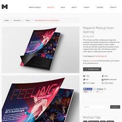 Original Mockups - Magazine Mockup Cover Opening