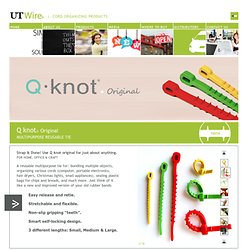 Q Knot Original - The Multipurpose Reusable Cable Tie