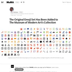 The Original Emoji Set Has Been Added to The Museum of Modern Art's Collection – MoMA – Medium
