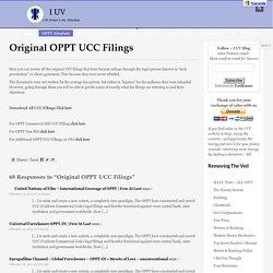 Original OPPT UCC Filings