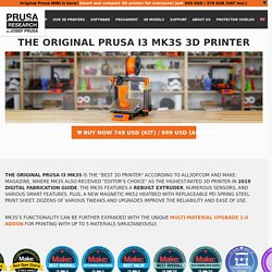 Original Prusa i3 MK3S - Prusa3D - 3D Printers from Josef Průša