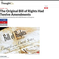 The Original Bill of Rights Had 12 Amendments, Not 10