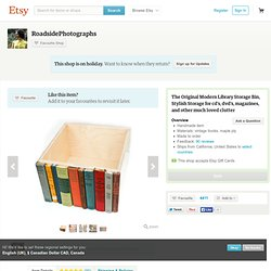 The Original Modern Library Storage Bin by RoadsidePhotographs