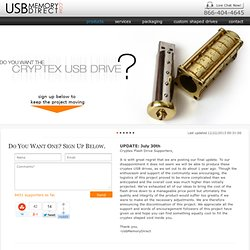 The original Cryptex USB Flash Drive: Old World Security, New World Technology