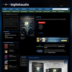 BigFishAudio Cyborg - A virtual toolbox of original and useful sounds, textures, and cinematic effects