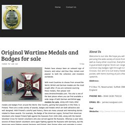 Original Wartime Medals and Badges for sale - thirdreichmedals