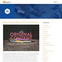 Why Original Website Content Matters at Bigfin.com