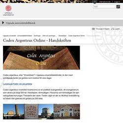 Originalhandskriften - Uppsala universitetsbibliotek - Uppsala universitet