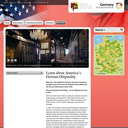 Learn about America's German Originality