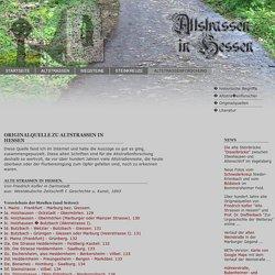"""Originalquelle von Friedrich Kofler """"Alte Strassen in Hessen"""", 1893, erstellt aus Online-Auszügen"""