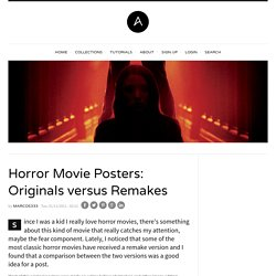 Horror Movie Posters: Originals versus Remakes